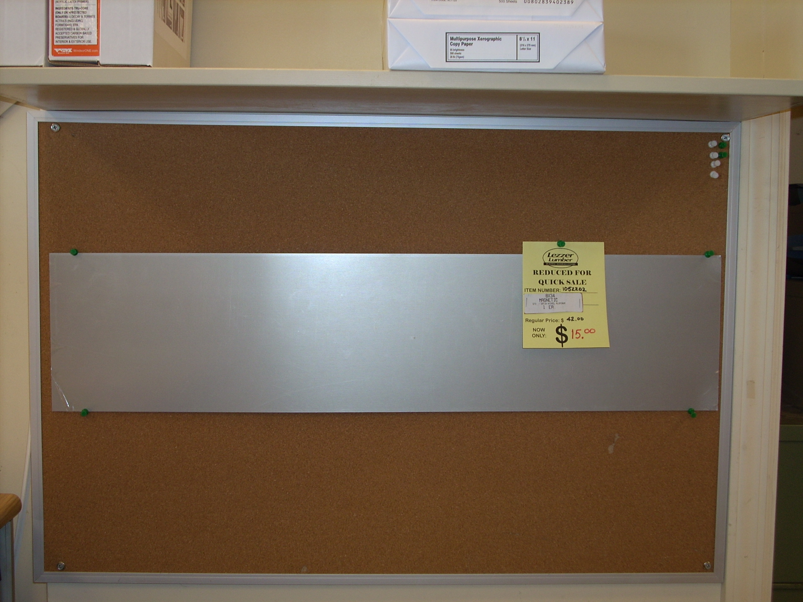 8 X 34 Magnetic Kick Plate In Satin Nickel Manheim New Building Materials At